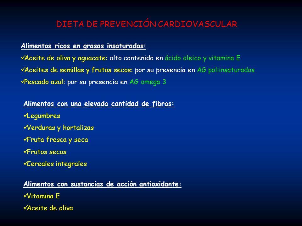 DIETA DE PREVENCIÓN CARDIOVASCULAR