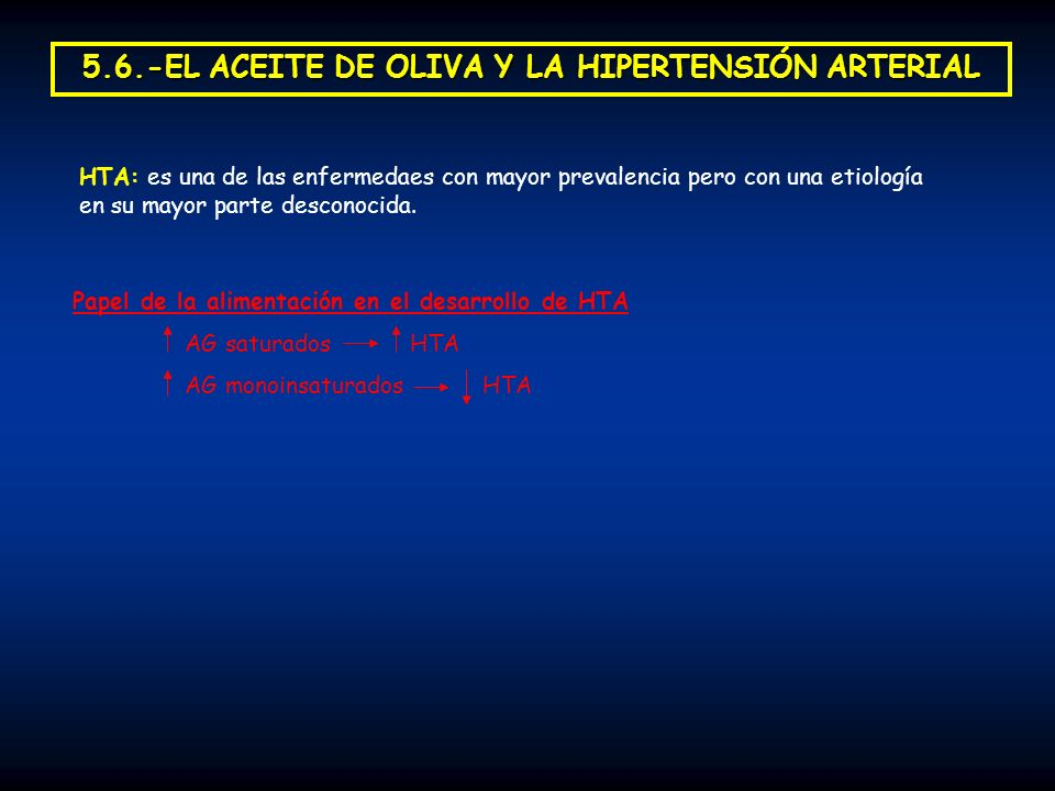 5.6.-EL ACEITE DE OLIVA Y LA HIPERTENSIÓN ARTERIAL