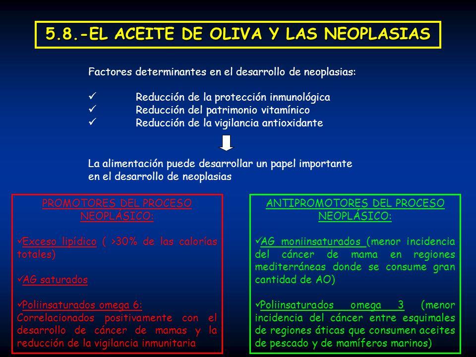 5.8.-EL ACEITE DE OLIVA Y LAS NEOPLASIAS