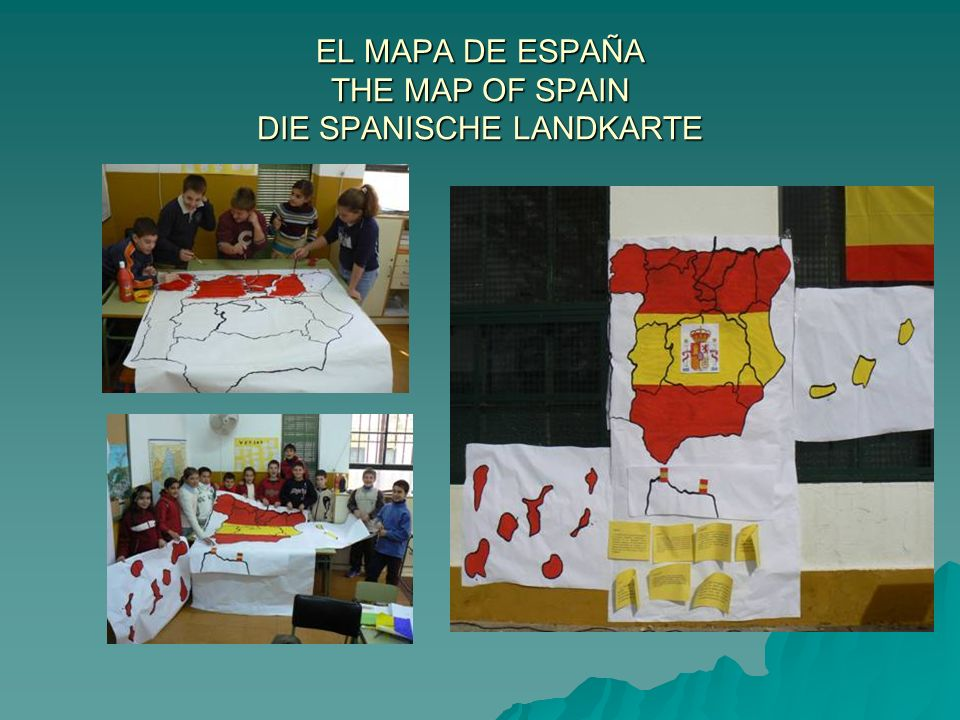EL MAPA DE ESPAÑA THE MAP OF SPAIN DIE SPANISCHE LANDKARTE