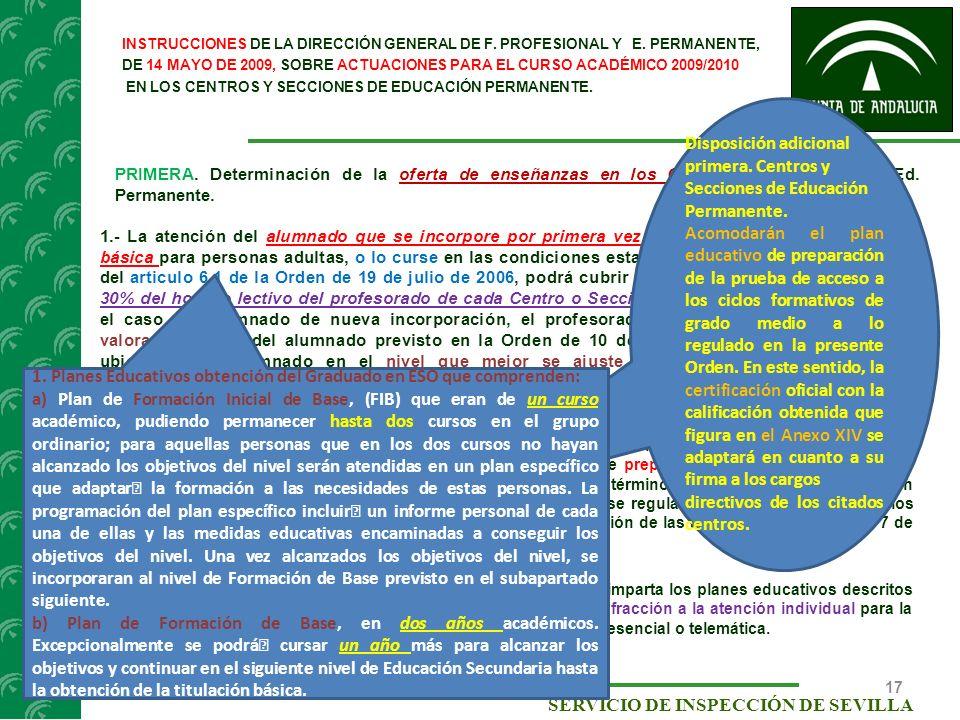directivos de los citados centros.