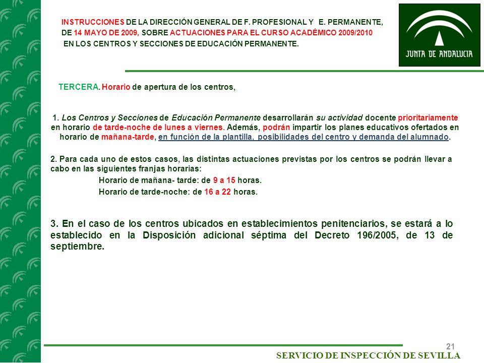 SERVICIO DE INSPECCIÓN DE SEVILLA