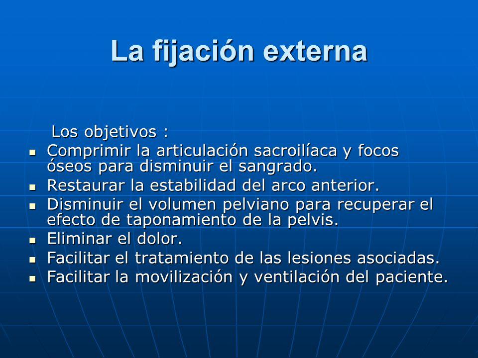 La fijación externa Los objetivos :