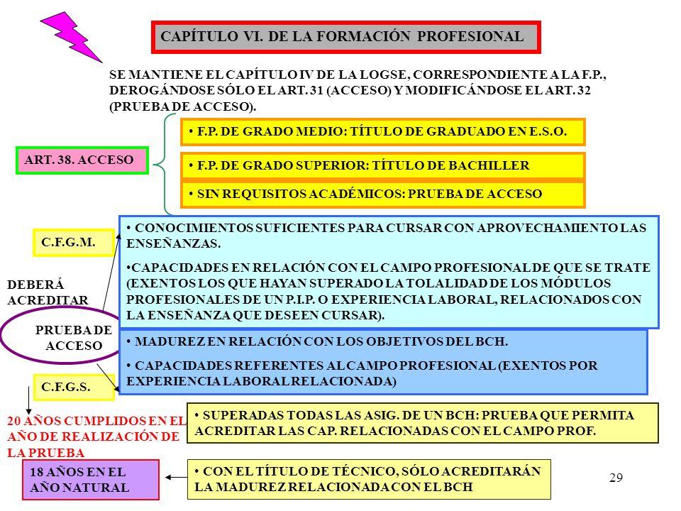 CAPÍTULO VI. DE LA FORMACIÓN PROFESIONAL