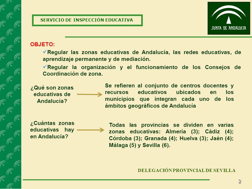 ¿Qué son zonas educativas de Andalucía