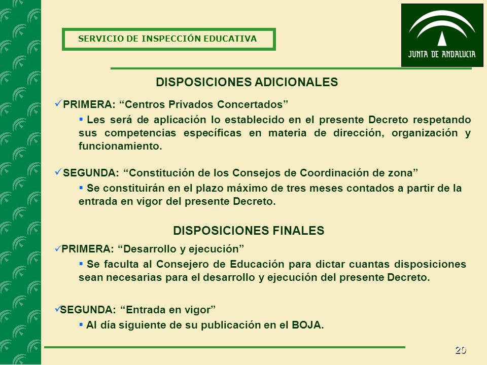 DISPOSICIONES ADICIONALES DISPOSICIONES FINALES