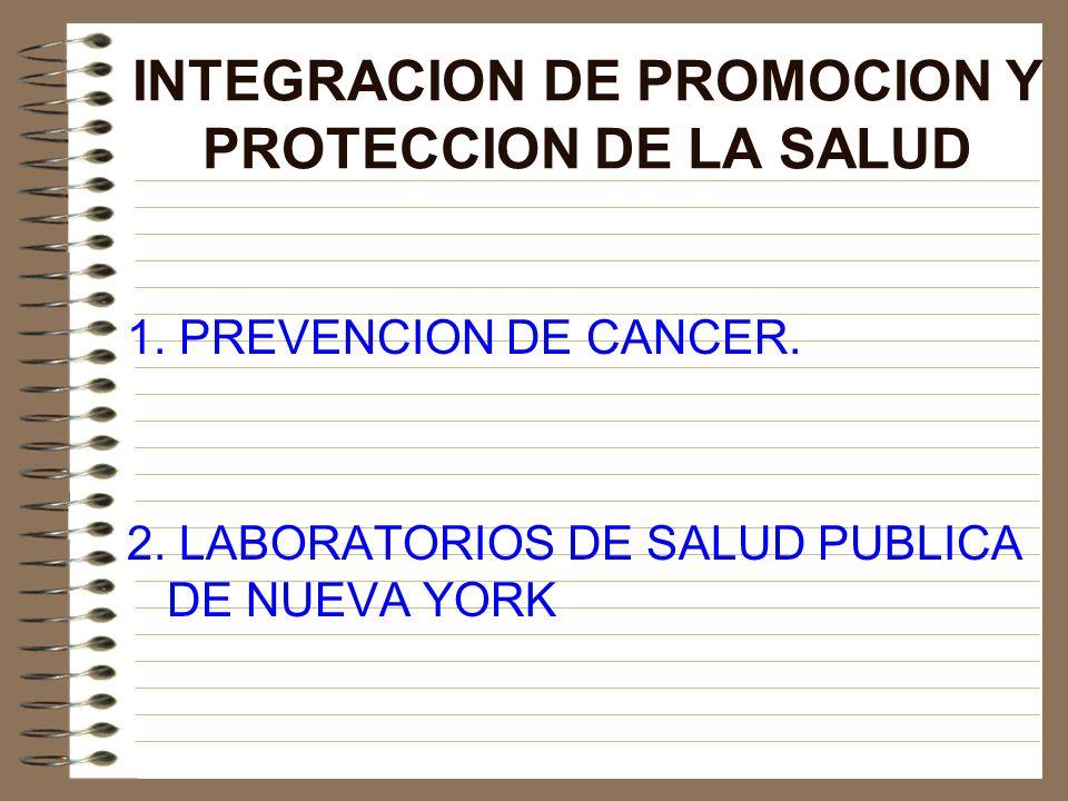 INTEGRACION DE PROMOCION Y PROTECCION DE LA SALUD