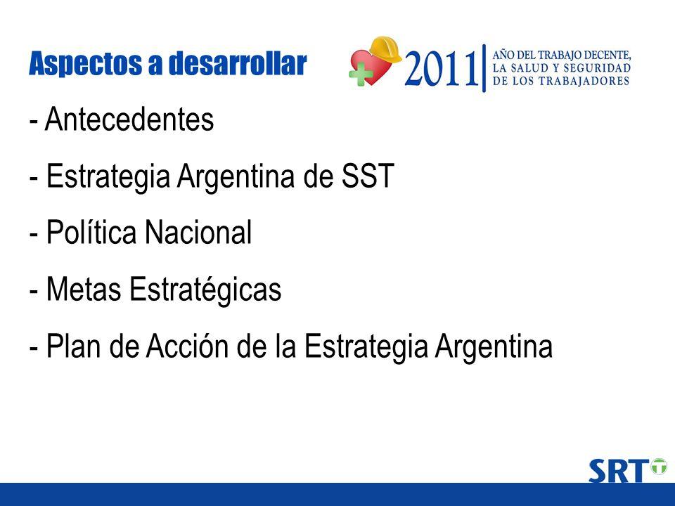 - Estrategia Argentina de SST - Política Nacional - Metas Estratégicas