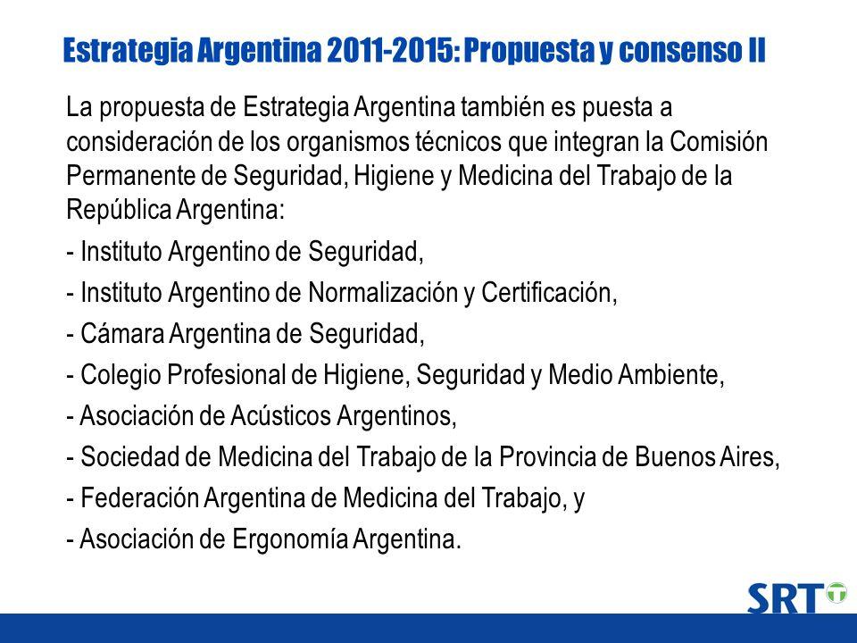 Estrategia Argentina 2011-2015: Propuesta y consenso II