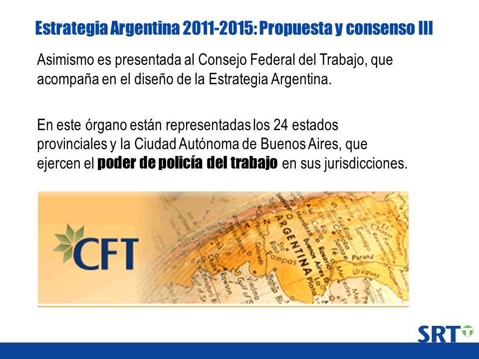 Estrategia Argentina 2011-2015: Propuesta y consenso III