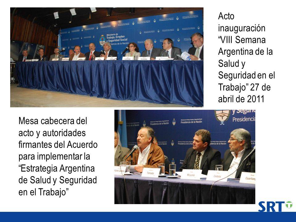 Acto inauguración VIII Semana Argentina de la Salud y Seguridad en el Trabajo 27 de abril de 2011