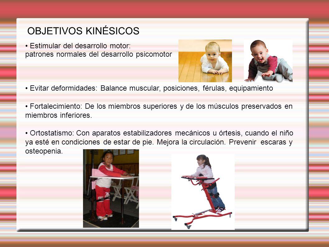 OBJETIVOS KINÉSICOS • Estimular del desarrollo motor: