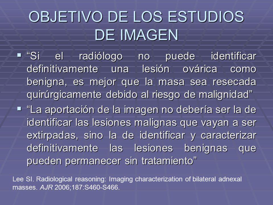 OBJETIVO DE LOS ESTUDIOS DE IMAGEN
