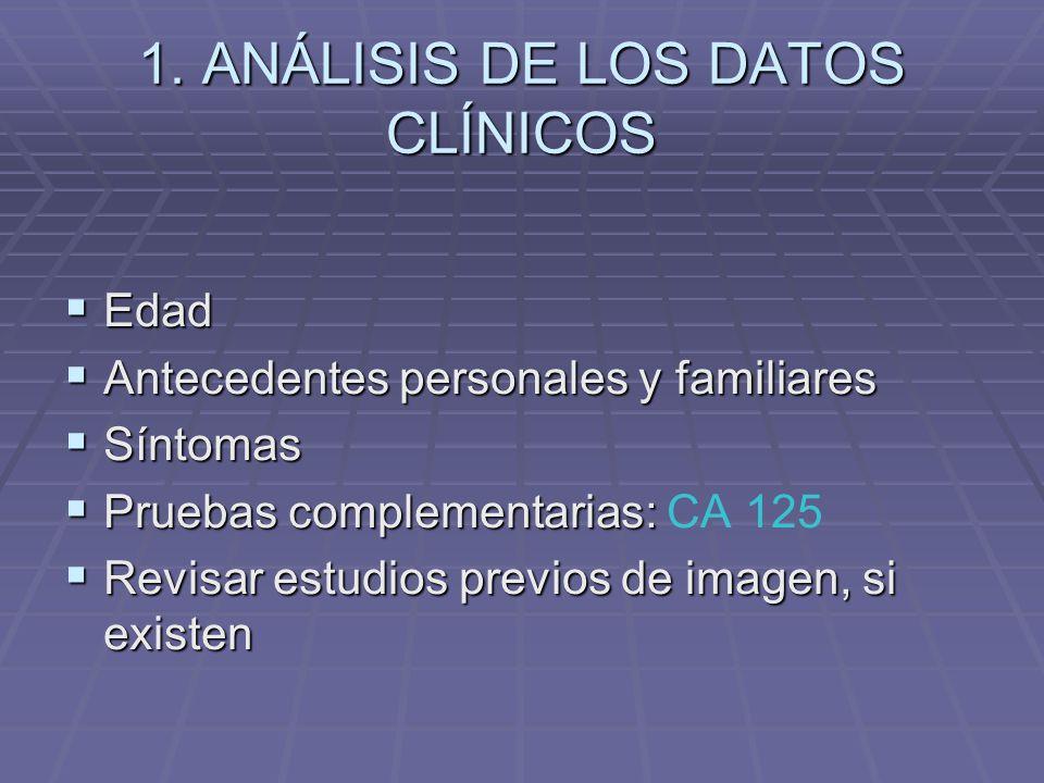 1. ANÁLISIS DE LOS DATOS CLÍNICOS