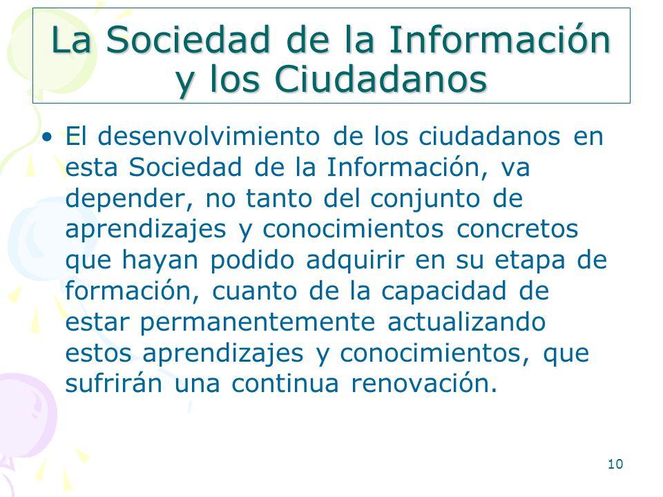 La Sociedad de la Información y los Ciudadanos
