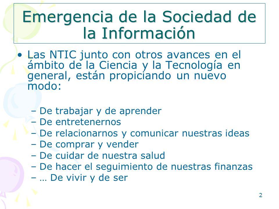 Emergencia de la Sociedad de la Información
