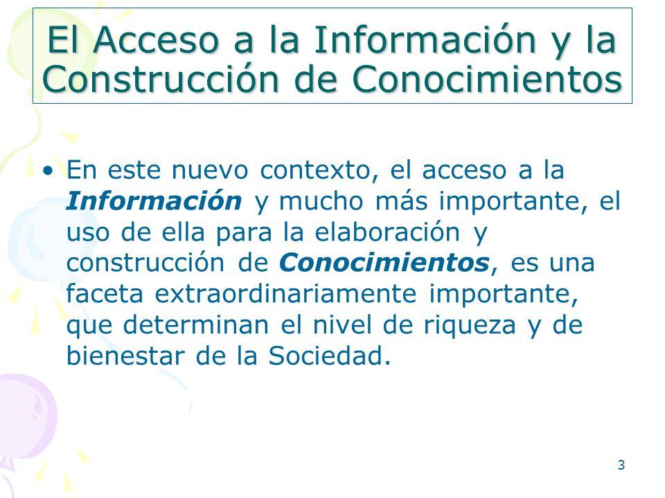 El Acceso a la Información y la Construcción de Conocimientos