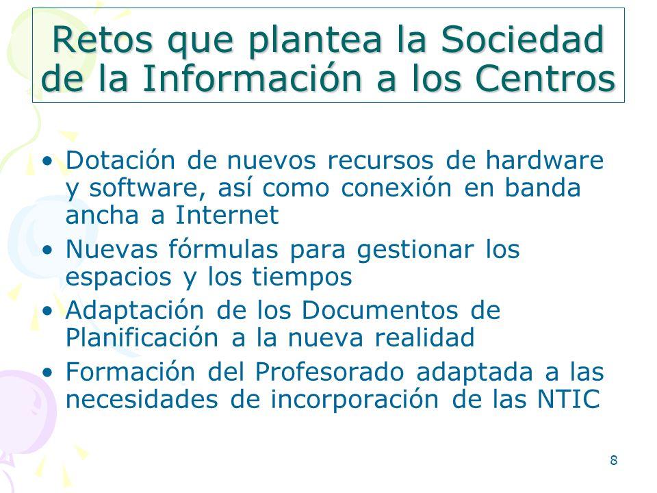 Retos que plantea la Sociedad de la Información a los Centros