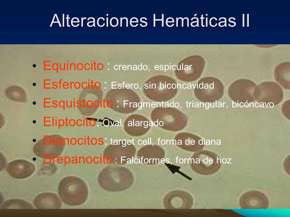 Alteraciones Hemáticas II