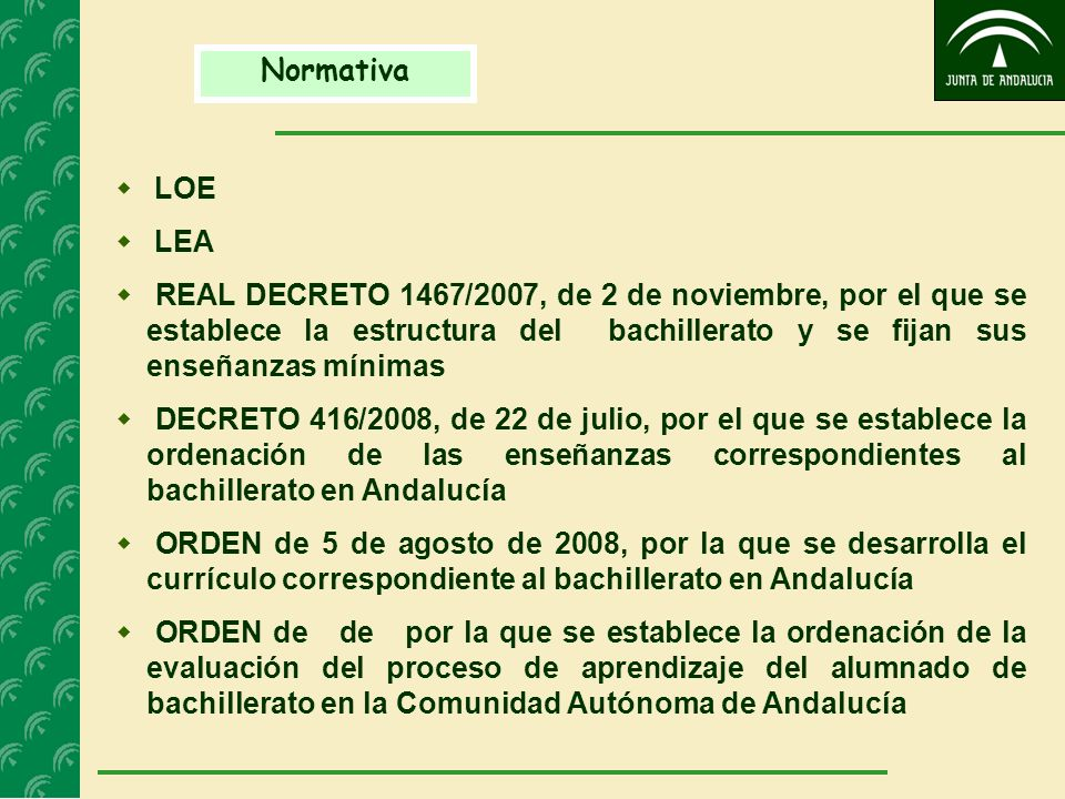 NormativaLOE. LEA.