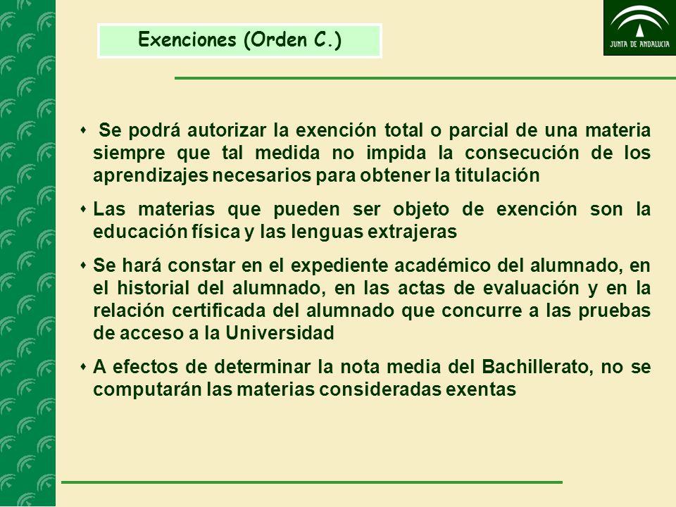 Exenciones (Orden C.)