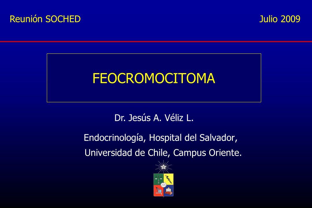 FEOCROMOCITOMA Reunión SOCHED Julio 2009 Dr. Jesús A. Véliz L.
