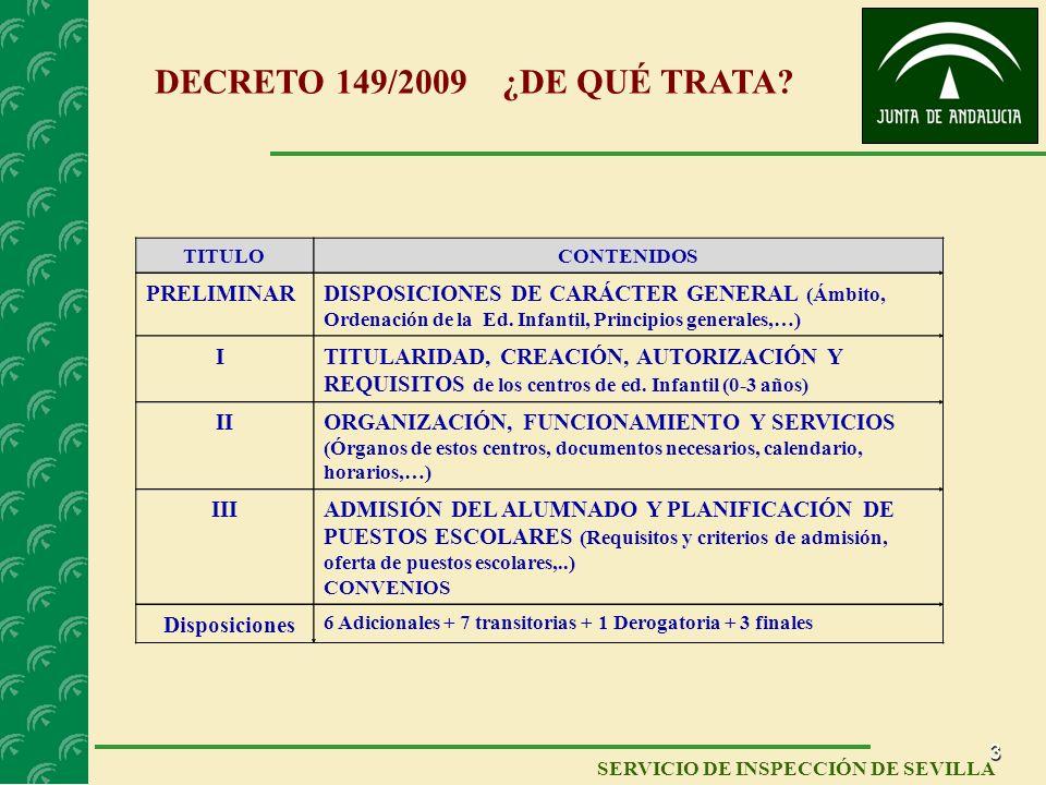 DECRETO 149/2009 ¿DE QUÉ TRATA PRELIMINAR