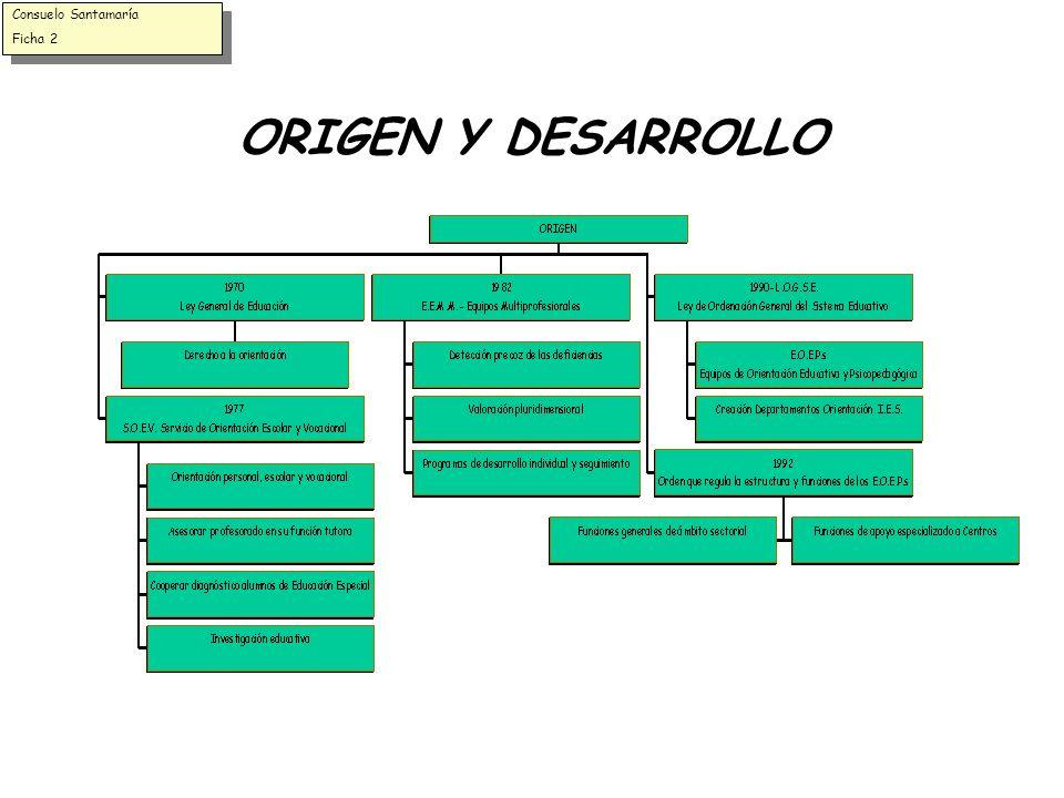 Consuelo Santamaría Ficha 2 ORIGEN Y DESARROLLO