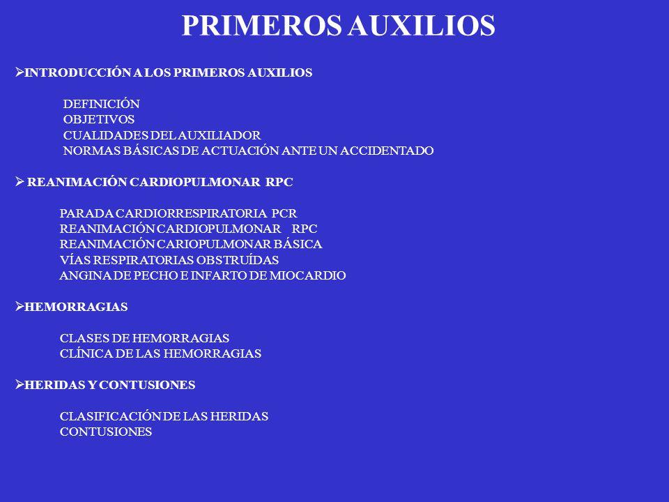 PRIMEROS AUXILIOS INTRODUCCIÓN A LOS PRIMEROS AUXILIOS DEFINICIÓN