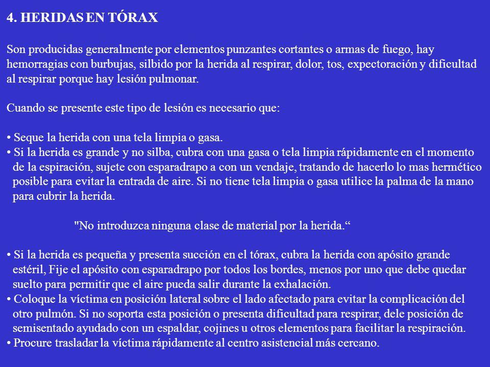 4. HERIDAS EN TÓRAX