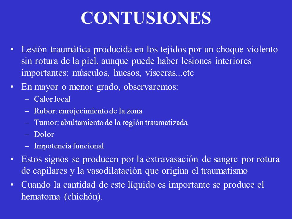 CONTUSIONES