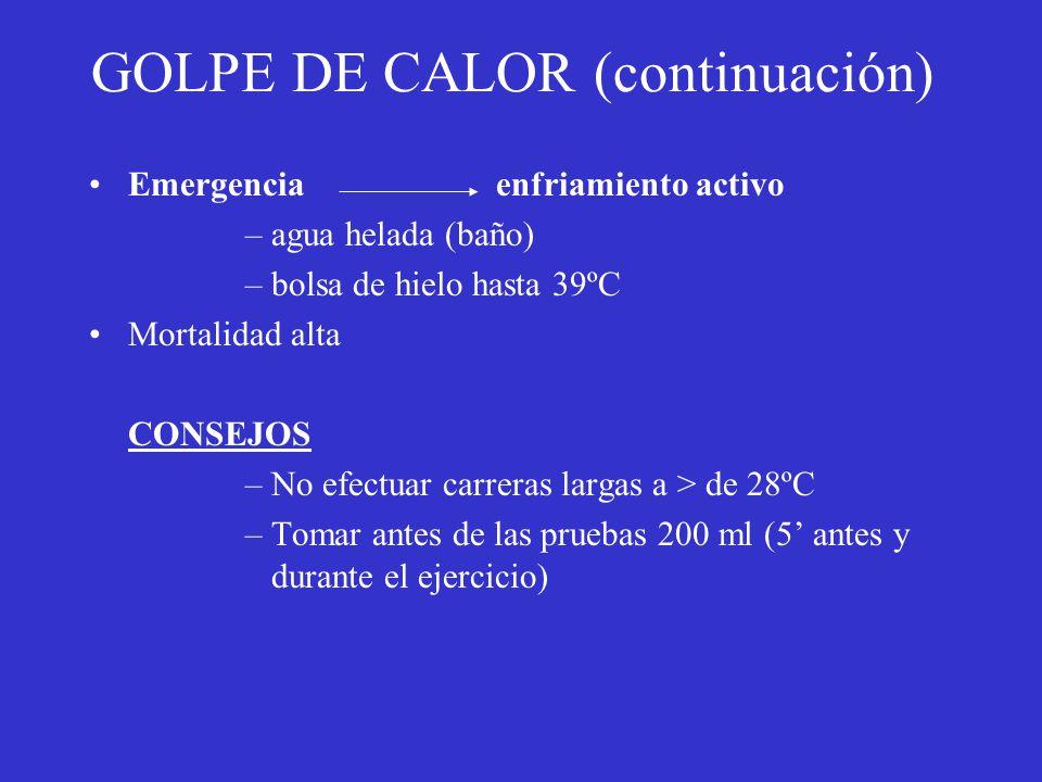 GOLPE DE CALOR (continuación)