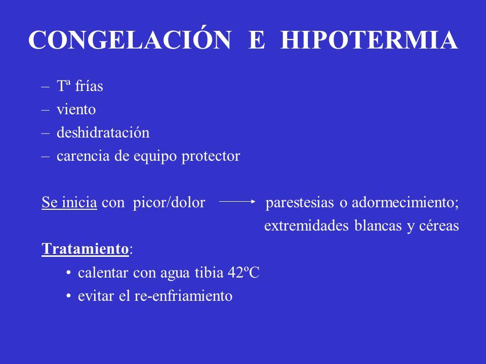 CONGELACIÓN E HIPOTERMIA