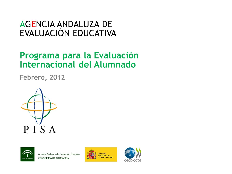 AGENCIA ANDALUZA DE EVALUACIÓN EDUCATIVA
