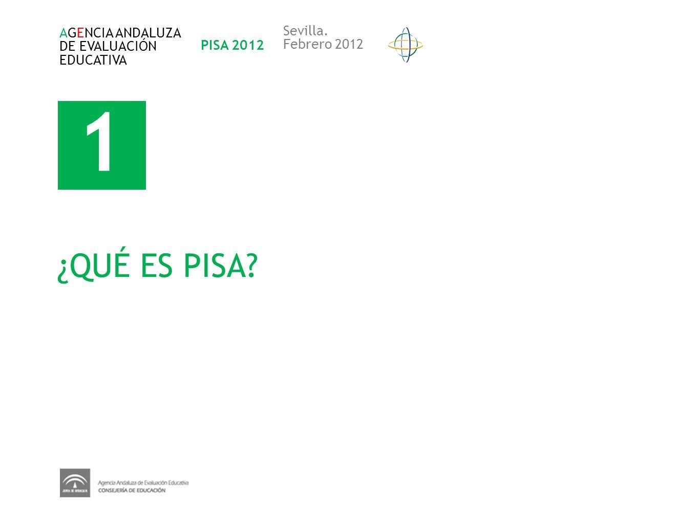 1 ¿QUÉ ES PISA Sevilla. AGENCIA ANDALUZA DE EVALUACIÓN PISA 2012