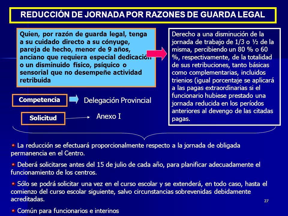 REDUCCIÓN DE JORNADA POR RAZONES DE GUARDA LEGAL