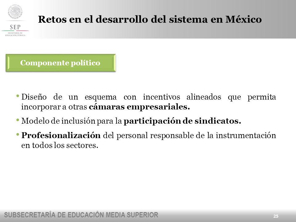 Retos en el desarrollo del sistema en México