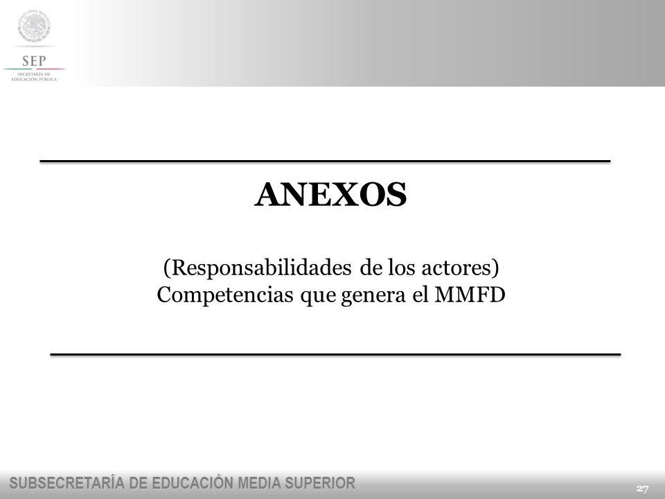 ANEXOS (Responsabilidades de los actores)