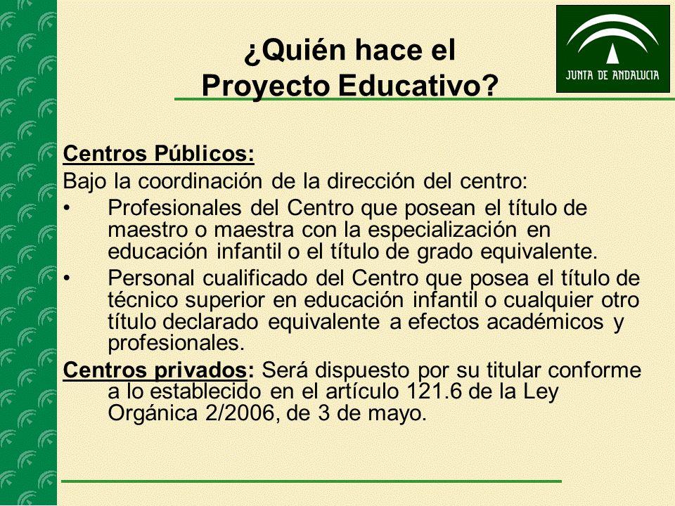 ¿Quién hace el Proyecto Educativo
