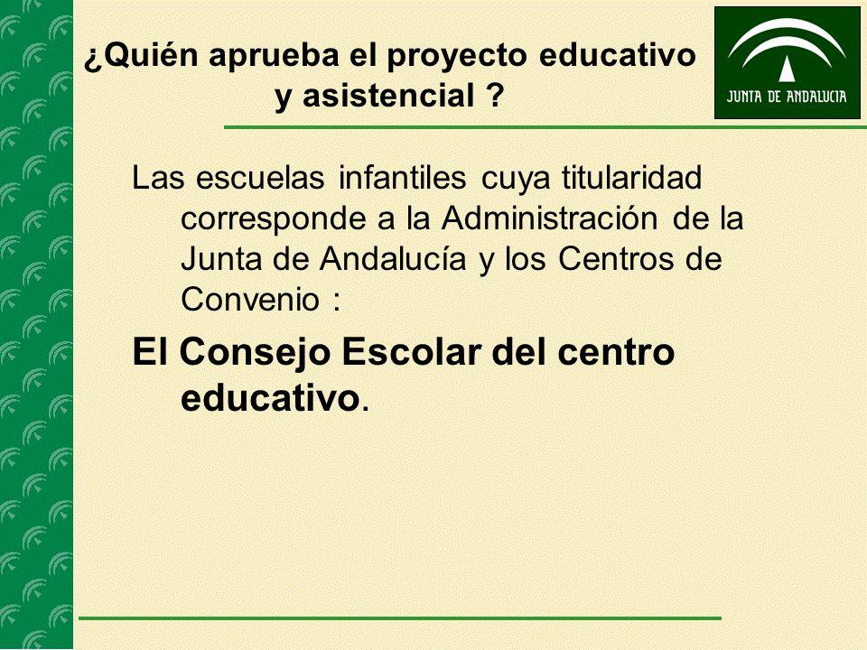 ¿Quién aprueba el proyecto educativo y asistencial