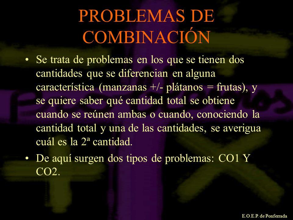 PROBLEMAS DE COMBINACIÓN