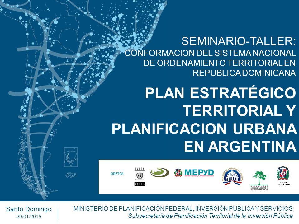 PLAN ESTRATÉGICO TERRITORIAL Y PLANIFICACION URBANA EN ARGENTINA