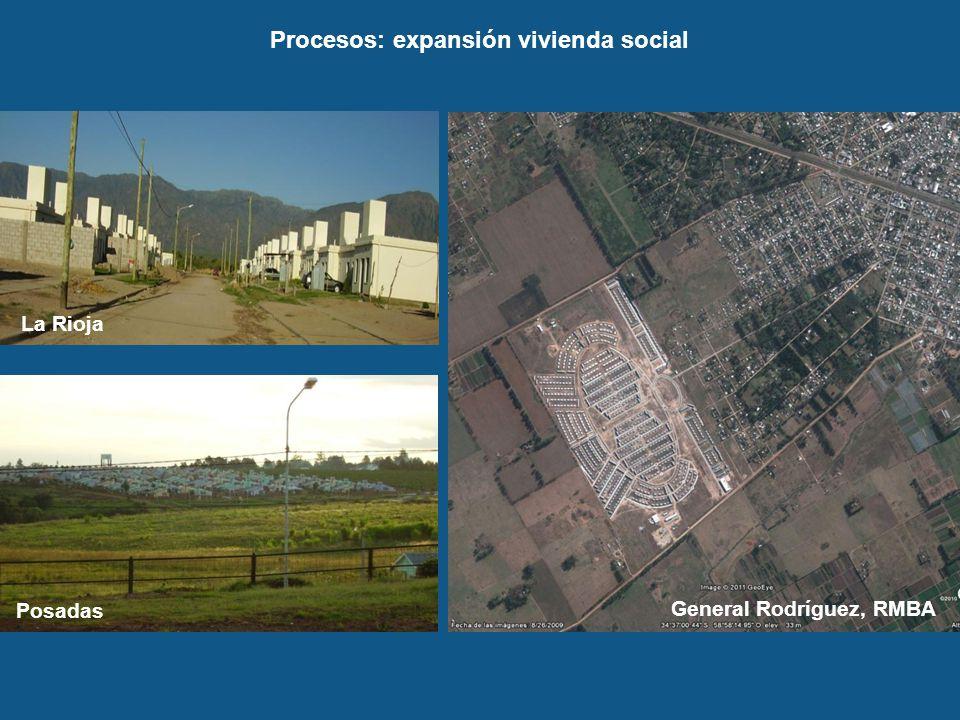Procesos: expansión vivienda social General Rodríguez, RMBA