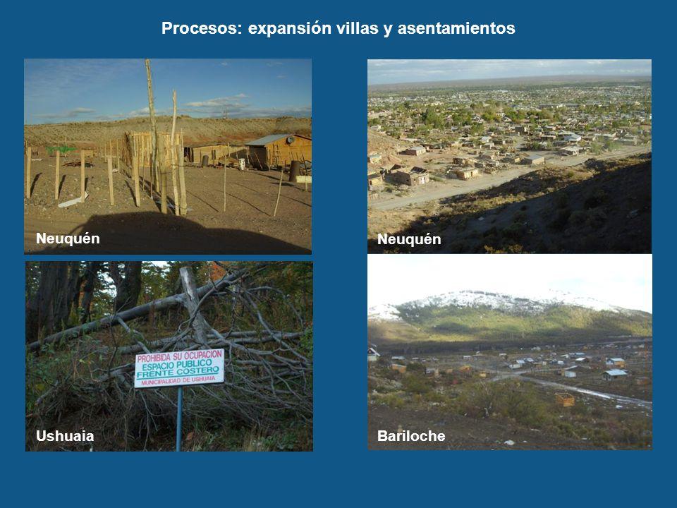 Procesos: expansión villas y asentamientos
