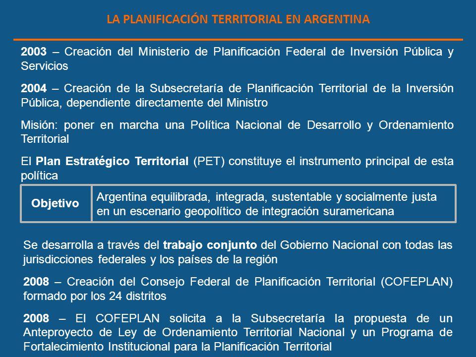 LA PLANIFICACIÓN TERRITORIAL EN ARGENTINA
