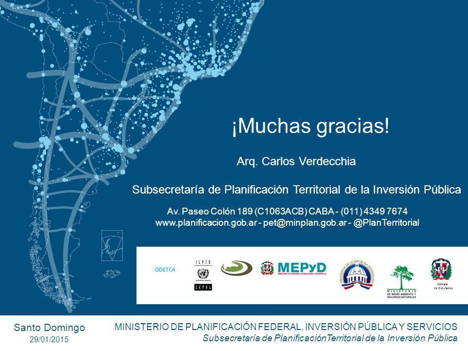 ¡Muchas gracias! Arq. Carlos Verdecchia