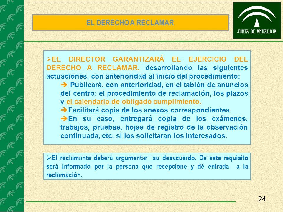 EL DERECHO A RECLAMAR
