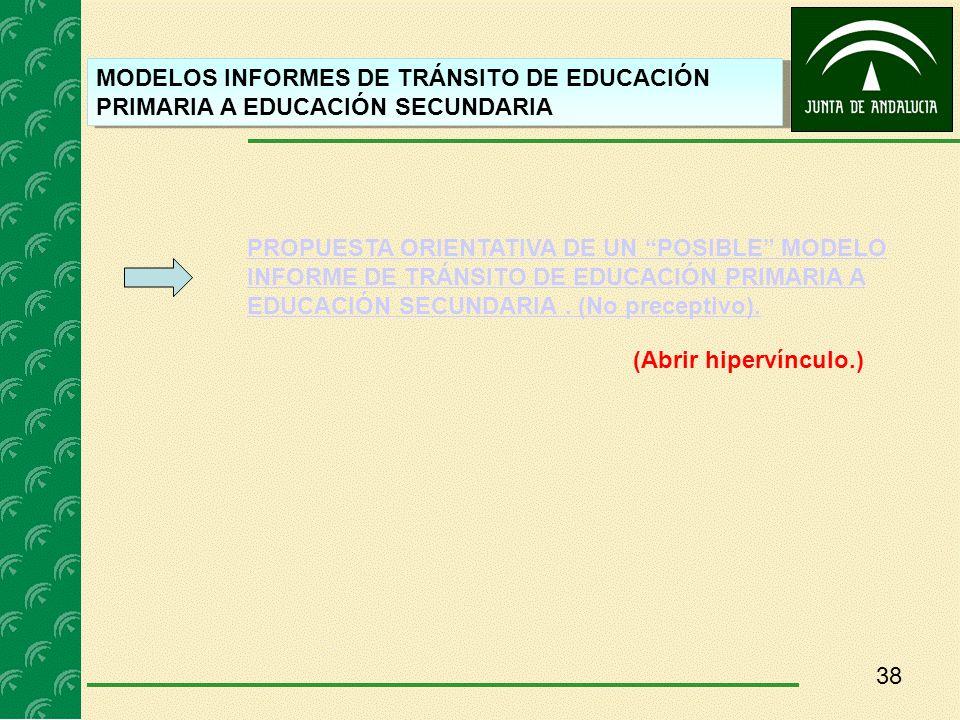 MODELOS INFORMES DE TRÁNSITO DE EDUCACIÓN PRIMARIA A EDUCACIÓN SECUNDARIA