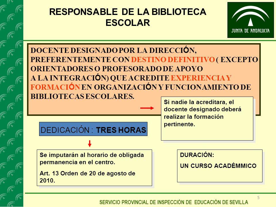 RESPONSABLE DE LA BIBLIOTECA ESCOLAR