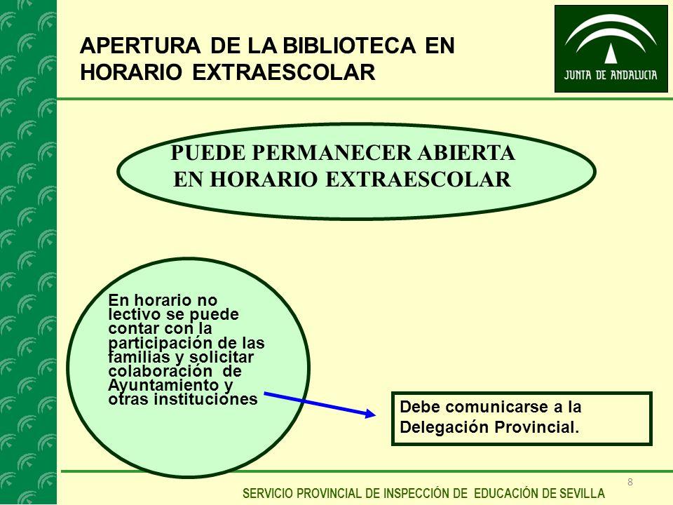 PUEDE PERMANECER ABIERTA EN HORARIO EXTRAESCOLAR